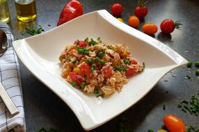 Reissalat mit thunfisch und feta