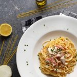 Spaghetti mit Räucherlachs