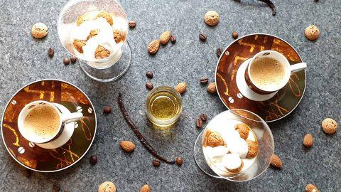 Mascarpone Creme mit Espresso und Amarettini