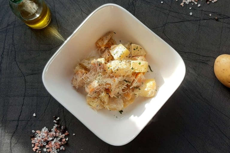 Kartoffel Kürbis Gratin