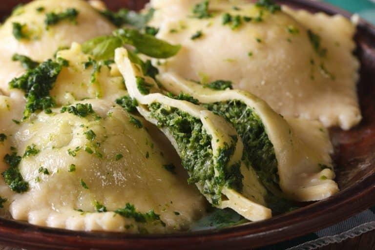 Glutenfreie Ravioli mit Spinat und Ricotta
